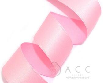 5Yards Pink Single Faced Satin Ribbon - 10mm(3/8''), 15mm(5/8''), 25mm(1''), and 40mm(1 1/2'') - Semi Gloss Flat Satin