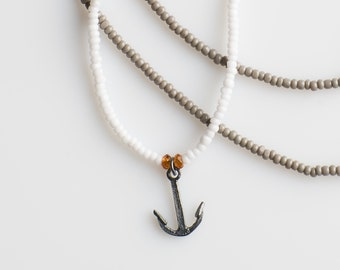 Anchor Color Block Necklace