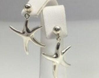 Dancing starfish earrings