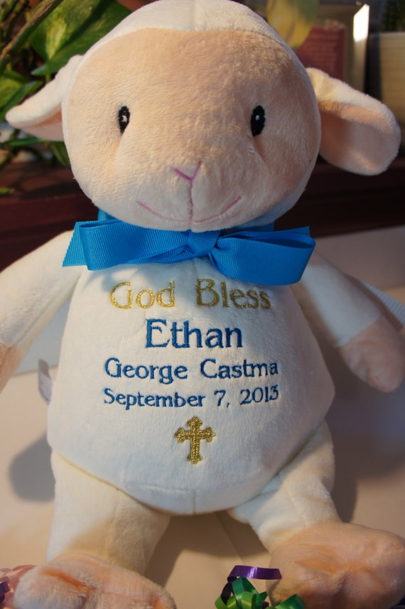 Personalized baby baptismal gift baby cubbies a like this item negle Gallery