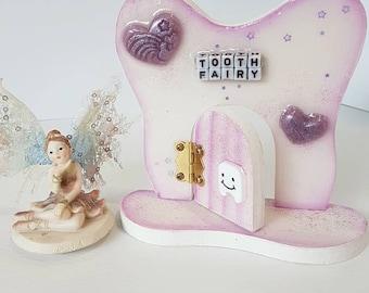 Heart Tooth Fairy Wooden Opening Fairy Door Tooth Fairy Door, Magical Fairy Door, Fairy Garden,  Fairy Door Kit, Flying Fairy Creations Door