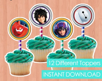 Big hero 6 cupcake Etsy