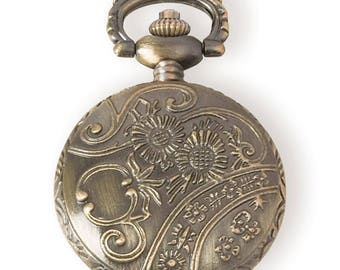 Pocket Watch Pendant Empty Pocket Watch Bronze Pendant Bronze Pocket Watch Blank Pocket Watch Steampunk Pendant