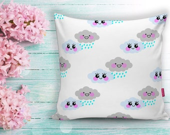 Happy Clouds Design Turkish made Famous Bursa Textile Decorative Pillow  Case and Covers - PLW-0089