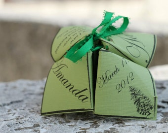 Cootie Catcher / Fortune Teller Wedding Program Template (COUPON code available!)