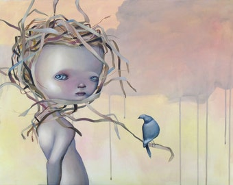 """Limited edition Giclee print """"We will build a nest"""" A3+"""