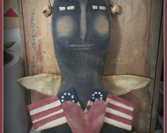 Primitive Americana, Primitive Patriotic, Lady Liberty, Uncle Sam, Prim America - Made to Order