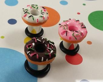 "Plugs Gauges - Donut Resin Plugs - 2ga (6mm), 0ga (8mm), 00ga (10mm), 7/16"" (11mm), 1/2"" (12mm) [C]"