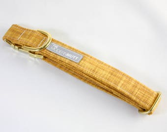 "Dog collar ""The Linen"" in gold"