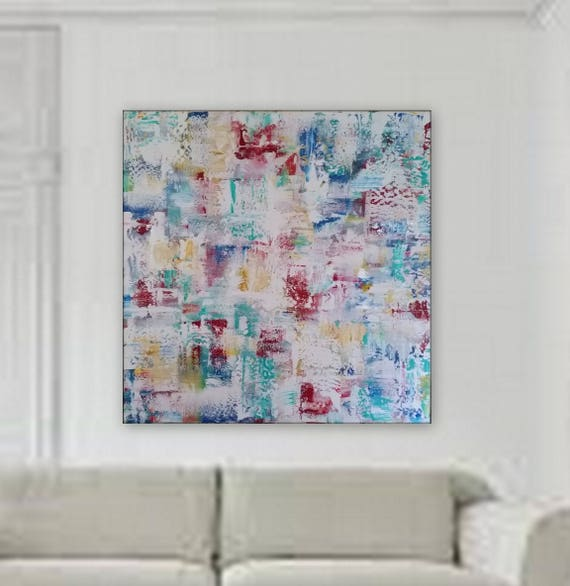 Large original painting by Marcy Chapman modern abstract  painting