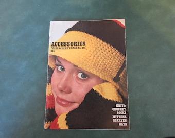 Knit ,Crochet Assessories,Coats & clarks book # 215