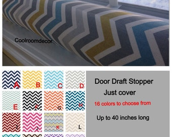 DRAFT EXCLUDER, chevron draft stopper COVER, Draft Guard, door snake, Door draft blocker, 28, 30, 32, 34. Up to 40 inches long.