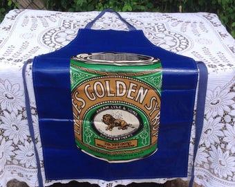 Vintage PVC /Cotton Apron. Lyles Golden Syrup. 1970's/80's.