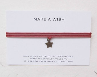 Wish bracelet, make a wish bracelet, friendship bracelet, star bracelet