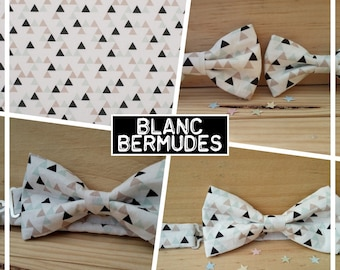 """White Bermuda"" baby-child-teen bow collection"