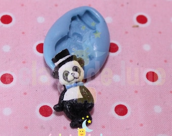 Silicone mold Panda and his hat 25 / 11mm