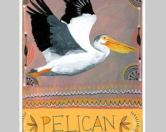 Animal Totem Print - Pelican