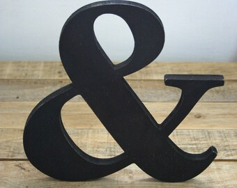 Wooden letter, freestanding wooden letter, shelf decor,Ampersand wood letter, & wood letter, wall decor, gift, simple and elegant