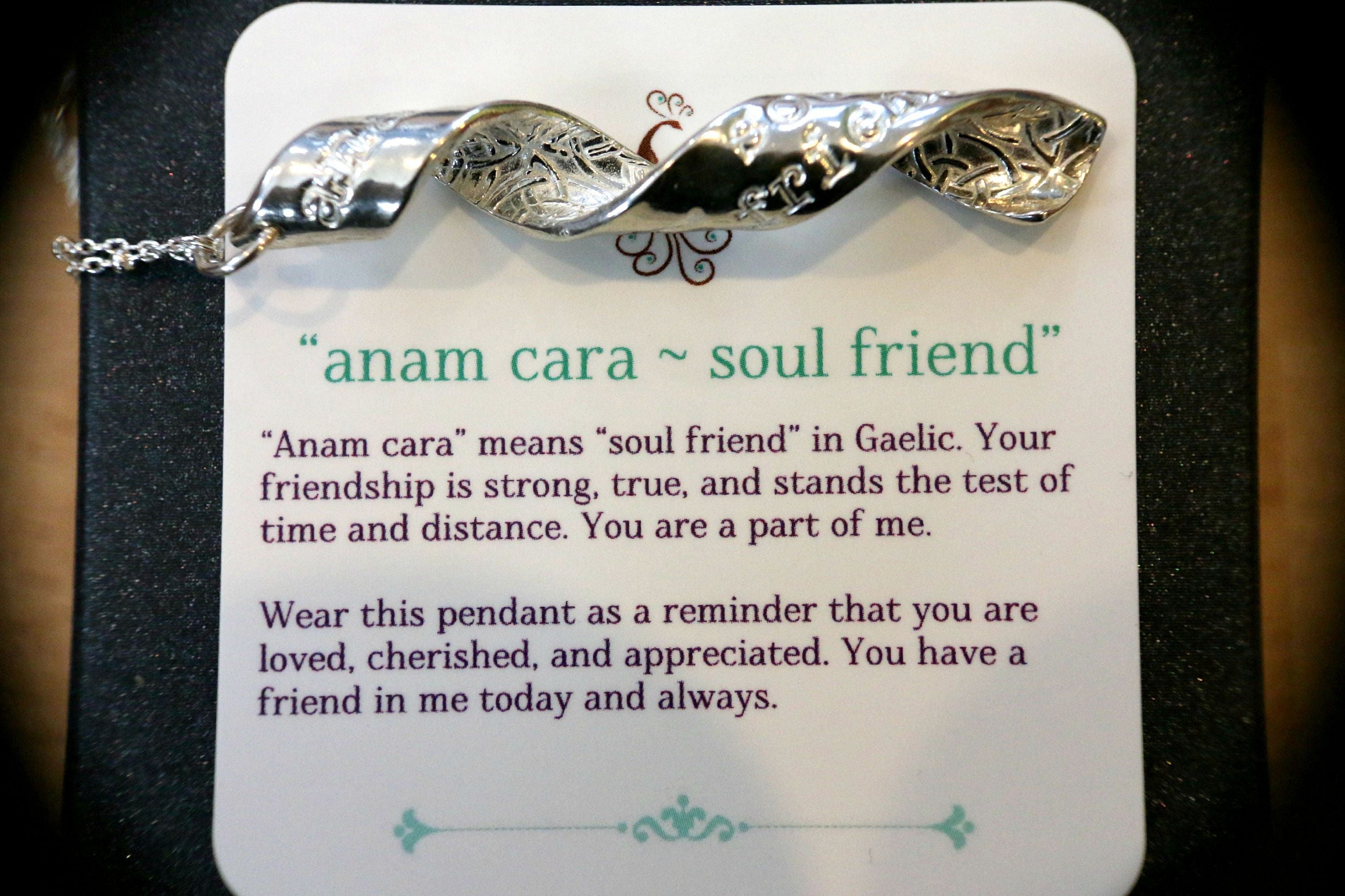 Anam cara soul friend an inspiral pendant about friendship and love gallery photo gallery photo gallery photo mozeypictures Gallery