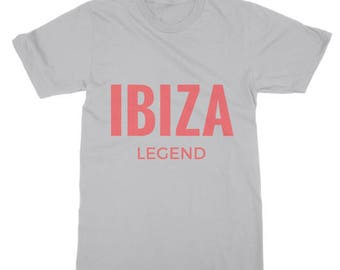 Ibiza Legend Range Printed T-shirt Best Looking Short Sleeve Tee Shirt Soft Style Fine Jersey 100% Cotton Designed By Ibiza Gifts