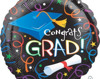 "Colorful Graduation Balloon 17"" Foil Mylar Congrats Grad Party Decorations Supplies"