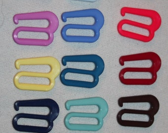 "Lot 13 plastic BATHING swim SUIT bikini garter bra S replacement hook hooks 3/4"" g20"