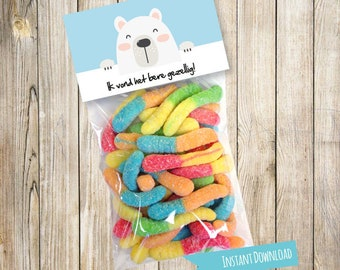 Candy Bag Labels, Candy Bag Toppers, Treat Bag Toppers, Favor Bags Toppers, Dutch, Teacher, Thank you