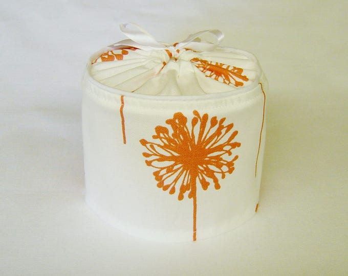 Toilet Paper Storage, Toilet Paper Holder, Bathroom Storage,  Toilet Paper Cover, Housewarming Gift, Coral, Farmhouse Decor, Spring Decor,