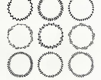 Laurel Wreath SVG Files, Laurel Wreath dxf, png, eps for Silhouette Studio & Cricut, Cut File, Flower