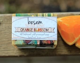 Orange Blossom / / sweet orange, Jasmin, natürliche, organische Kaltverfahren Seife, Handwerker, Palm kostenlose Seife