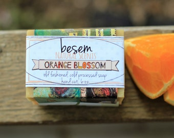 Orange Blossom // sweet orange, jasmine, natural, organic cold process soap, artisan, palm free soap