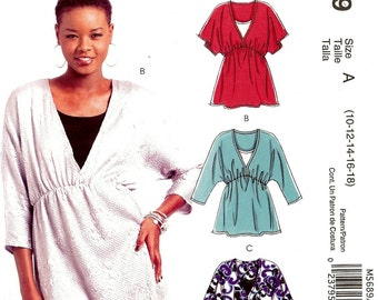 McCall's Easy Stitch 'n Save Pattern M5689 Misses Tunics & Top 10-18 UNCUT