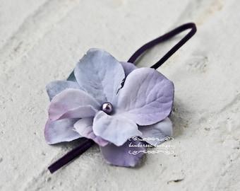 Lavender baby flower headband, Newborn Headband, Baby Headband, Purple Small FLower Headband
