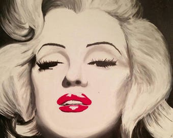 Original Hand Painted Marilyn Monroe