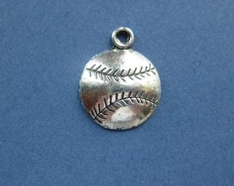 Baseball pendant etsy 10 baseball charms baseball pendants sports charm softball charm antique tibetan silver aloadofball Gallery