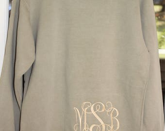 Embroidered Comfort color sweatshirt