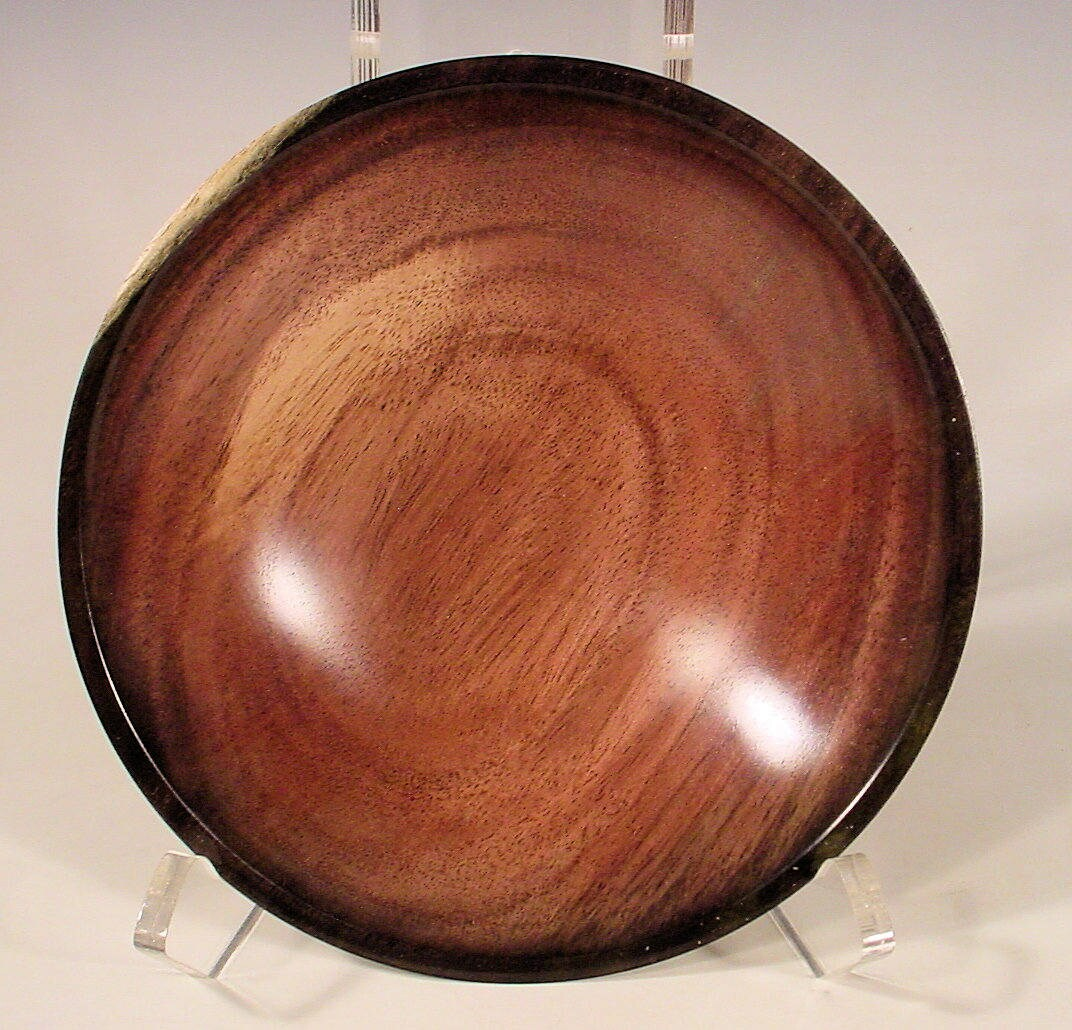 exotic blue mahoe turned wooden bowl number 6746bryan