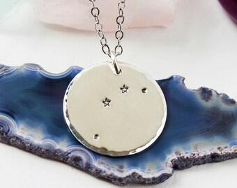 Aries constellation zodiac necklace. Zodiac gift. Sterling silver zodiac constellation necklace. Aries necklace. Aries gift. RTS