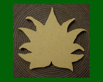 Unfinished  Lotus Blossom Shapefrom Mdf Wood