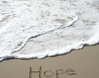 Hope Sand Beach Writing  Fine Art Photo