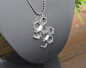 Pentagon, Polygon, Hexagon, Metal Jewellery, Necklace