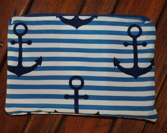 Zipper Pouch, Small Zippered Bag, Lined Pouch, Small Pouch, Pouch for Use with Beach Bag, Small Lined Pouch, Lined Zippered Pouch
