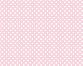 Small White Dots on Baby Pink Background by Riley Blake - C350-75 BABY PINK