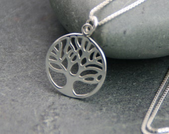 Inspirational gift tree of life bracelet sterling silver tree of life pendant necklace hidden message sterling silver gift for her aloadofball Images