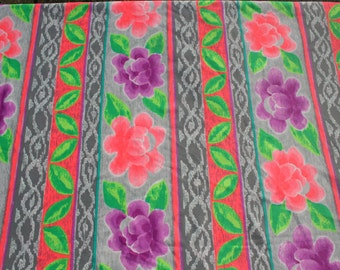 Vintage Swimsuit Fabric, Lycra Swimwear Fabric, Bikini 4 way Stretchy Fabric, Pink Purple Orange Green Exercise Sports Fabric, 1 1/2 yard