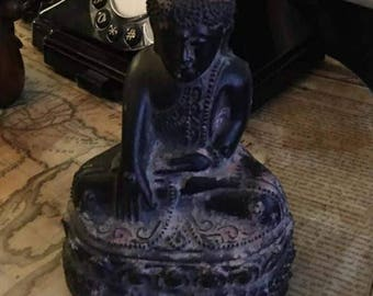 A 19th Century Sino Tibetan Carved Wood Buddha