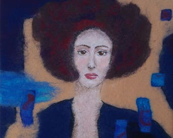 Felted Painting - Belladonna