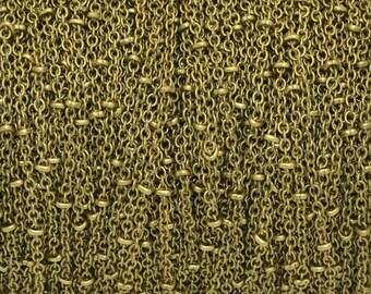 Bronze 1.5 mm colored fancy brass chain