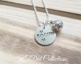 Soccer Necklace, Soccer Mom Necklace, Soccer Player Jewelry