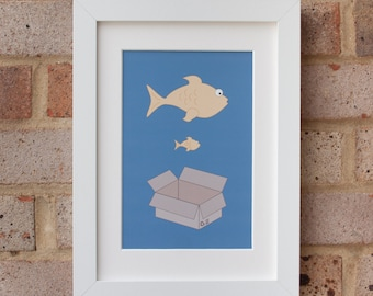 Big Fish, Little Fish - Giclée print